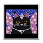 Black Cat Fairy Princess ART Tile