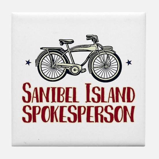 Sanibel Island Spokesperson Tile Coaster
