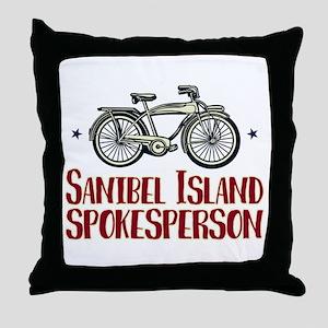 Sanibel Island Spokesperson Throw Pillow