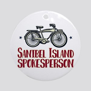 Sanibel Island Spokesperson Round Ornament