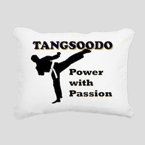 Tangsoodo Power with Pas Rectangular Canvas Pillow