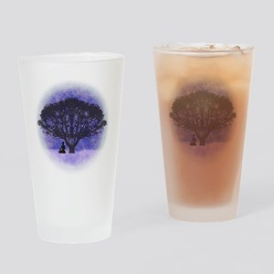 Buddha Beneath the Bodhi Tree-Light Drinking Glass