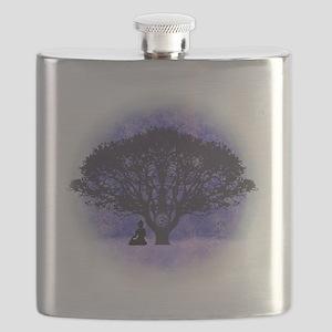 Buddha Beneath the Bodhi Tree-Light Flask