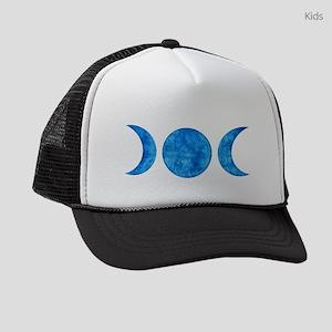 Distressed Moon Symbol Kids Trucker hat