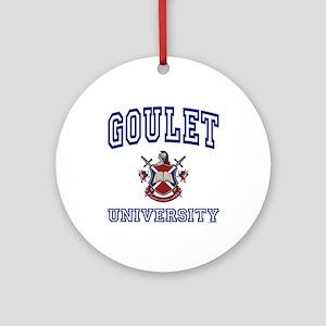GOULET University Ornament (Round)
