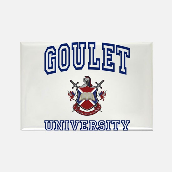 GOULET University Rectangle Magnet