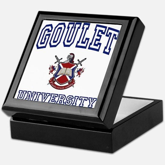 GOULET University Keepsake Box