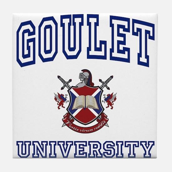 GOULET University Tile Coaster