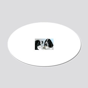 Spaniel 20x12 Oval Wall Decal