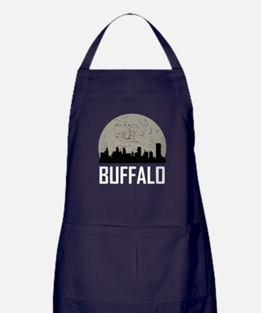 Buffalo Full Moon Skyline Apron (dark)