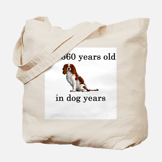 80 birthday dog years springer spaniel Tote Bag