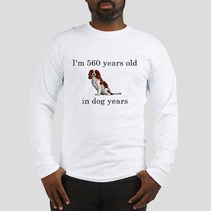 80 birthday dog years springer spaniel Long Sleeve