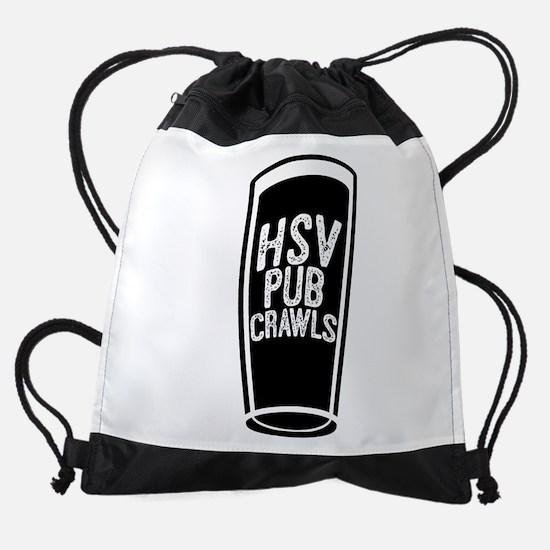 HSVPubCrawls_Logo_Black Drawstring Bag