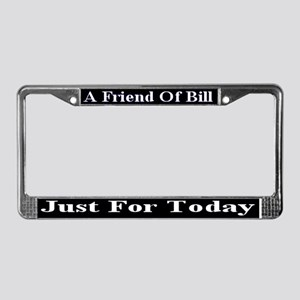 Just For Today License Plate Frame