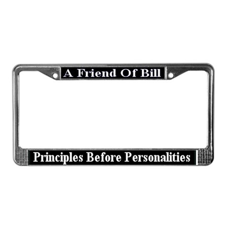 Principles Before Personalitie License Plate Frame