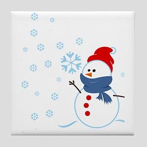 Cute Snowman Tile Coaster