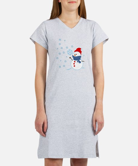 Cute Snowman Women's Nightshirt