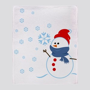 Cute Snowman Throw Blanket
