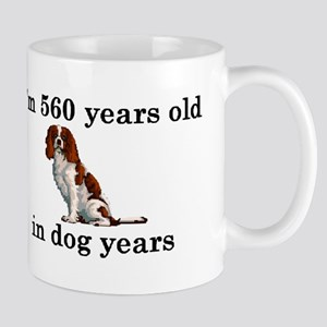 80 birthday dog years springer spaniel 2 Mugs