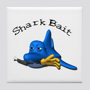 Funny Shark Bait (Bite) Design Tile Coaster