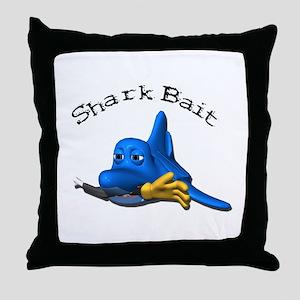 Funny Shark Bait (Bite) Design Throw Pillow