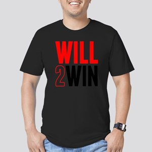 Will2Win Red and Black Men's Fitted T-Shirt (dark)