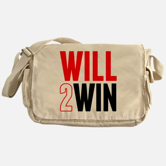 Will2Win Red and Black Messenger Bag
