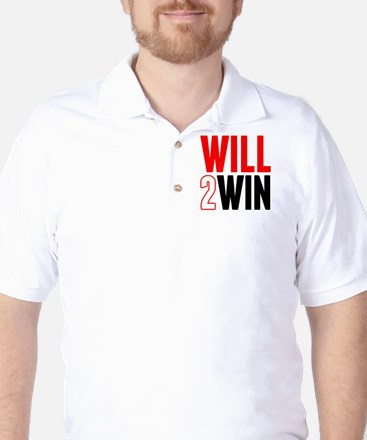 Will2Win Red and Black Golf Shirt