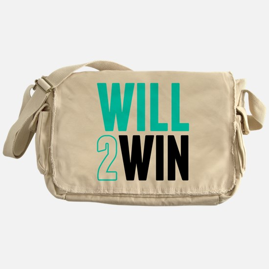 Will2Win Baby Blue  Black Messenger Bag