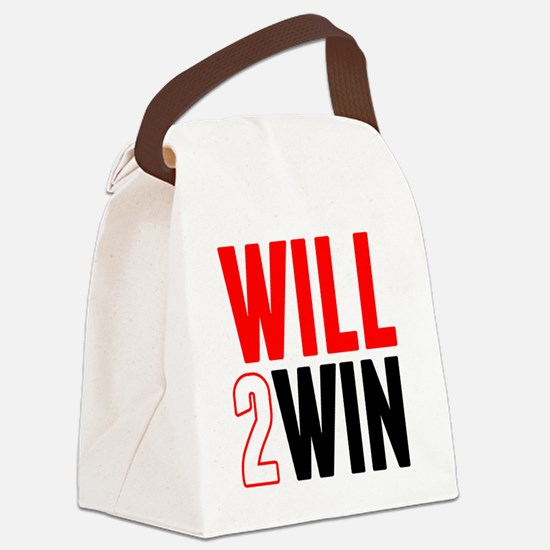 Will2Win Red and Black Canvas Lunch Bag