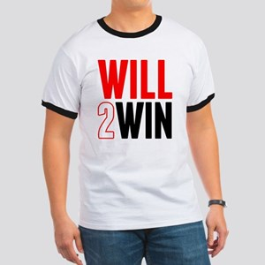 Will2Win Red and Black Ringer T