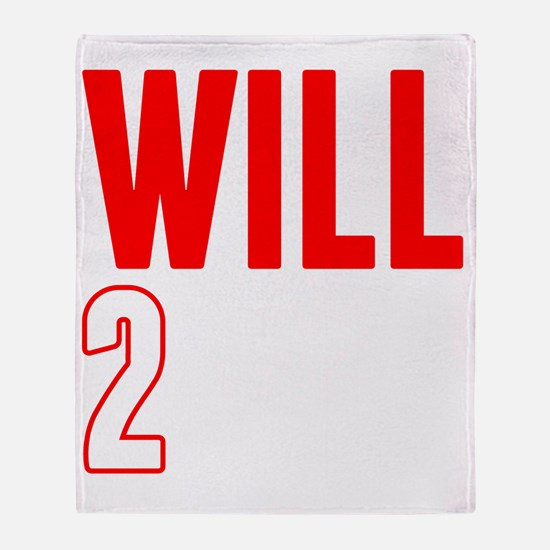 Will2Win Red and White Throw Blanket