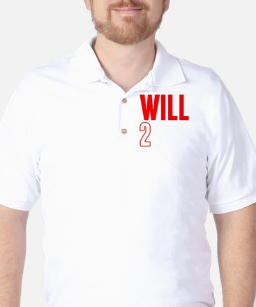 Will2Win Red and White Golf Shirt