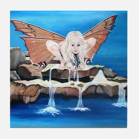 Fairy on Rocks Tile Coaster