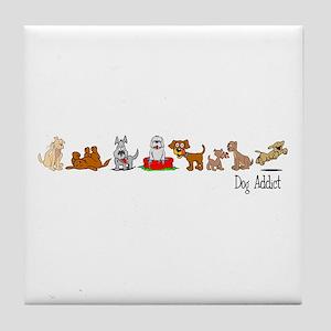 Dog Addict Tile Coaster