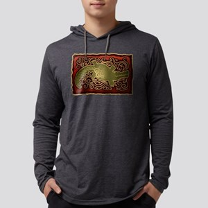 Southwest Alligator Design Long Sleeve T-Shirt