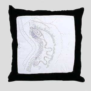 Serpent Image 1800s Throw Pillow