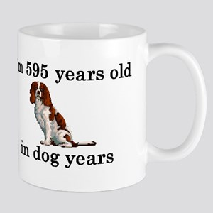 85 birthday dog years springer spaniel 2 Mugs