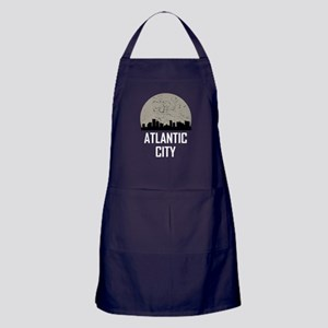 Atlantic City Full Moon Skyline Apron (dark)