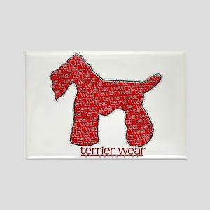 Terrier Wear Rectangle Magnet