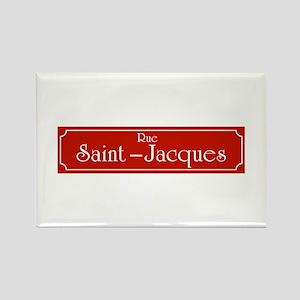Rue Saint-Jacques, Montreal (CA) Rectangle Magnet