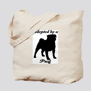 ADOPTED by a Pug Tote Bag