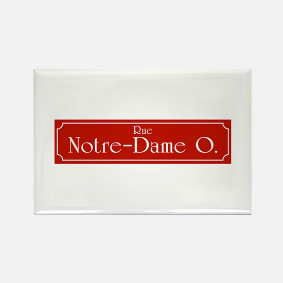 Rue Notre-Dame, Montreal (CA) Rectangle Magnet