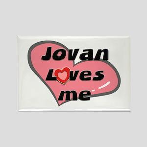 jovan loves me Rectangle Magnet