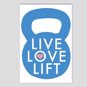 Blue Live Love Lift Postcards (Package of 8)
