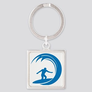surfA004 Square Keychain