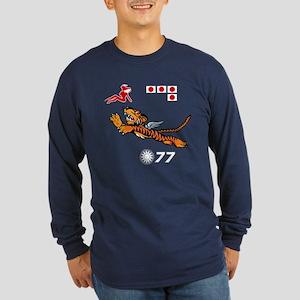 Flying Tigers Long Sleeve Dark T-Shirt