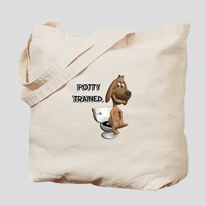 Potty Trained Puppy Dog Tote Bag