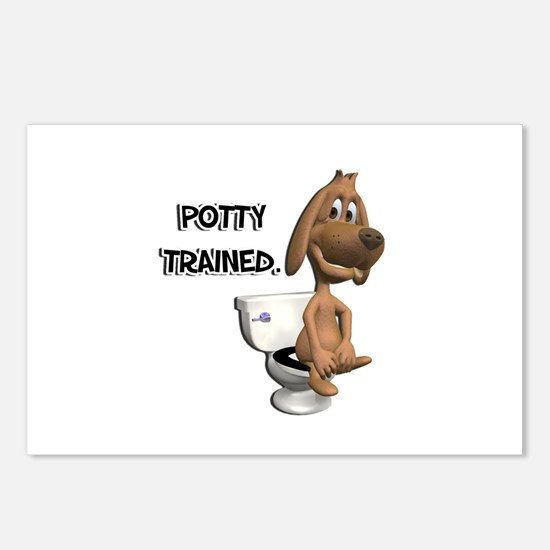 Potty Trained Puppy Dog Postcards (Package of 8)