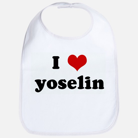 I Love yoselin Bib